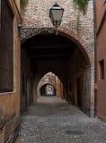Oude middeleeuwse stad Stock Foto