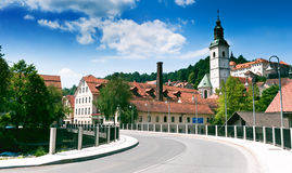Oude middeleeuwse stad van Skofja Loka Royalty-vrije Stock Fotografie