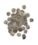 Oude middeleeuwse Turkse en tatar muntstukken stock fotografie