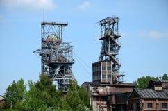 Oude mijn in Bytom Polen Royalty-vrije Stock Afbeeldingen