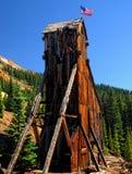 Oude mijn in Colorado Stock Afbeelding