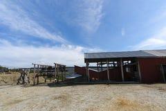 Oude mijnbouwkabelbaan, kopermijn, Folldal Royalty-vrije Stock Afbeelding