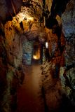 Oude Mijnbouwtunnel Tinmijn Mauritius Royalty-vrije Stock Foto's