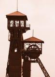 Oude mijntoren royalty-vrije stock foto's