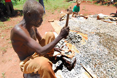 Oude mijnwerker Stock Fotografie