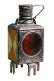 Oude mijnwerkerslamp Royalty-vrije Stock Afbeeldingen