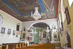 Oud kerkbinnenland Stock Afbeelding