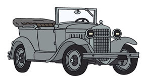 Oude militaire auto stock illustratie