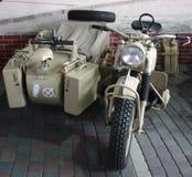 oude militaire motorfiets Royalty-vrije Stock Afbeelding