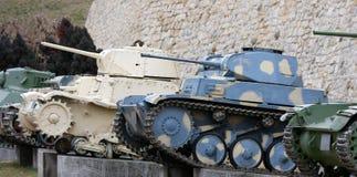 Oude militaire tanks Royalty-vrije Stock Foto's