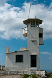 Oude militaire toren Stock Foto's