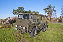 Oude militaire voertuigen Stock Foto