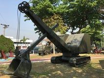 Oude militaire voertuigen Stock Afbeelding