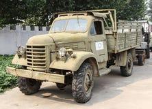 Oude militaire vrachtwagen Royalty-vrije Stock Afbeeldingen