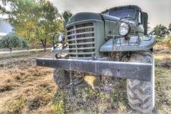 Oude militaire vrachtwagen Stock Afbeeldingen