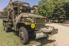 Oude militaire vrachtwagen Stock Foto