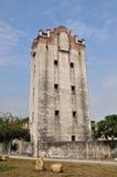 Oude militaire watchtower in werf van Zuidelijk China Royalty-vrije Stock Foto