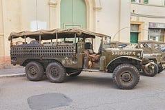Oude militaire WC 52 van vrachtwagendodge Royalty-vrije Stock Foto's