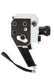 Oude 8mm filmcamera op wit Royalty-vrije Stock Afbeeldingen