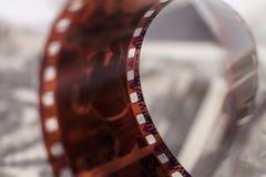 Oude 35 mm verdraaide film Royalty-vrije Stock Foto