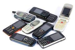 Oude Mobiele telefoons Stock Foto's