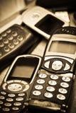 Oude mobiele telefoons - retro II Royalty-vrije Stock Afbeeldingen