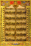 Oude modieuze kalender royalty-vrije stock fotografie