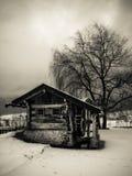 Oude Molen bij de Winter in Italië   Royalty-vrije Stock Afbeeldingen