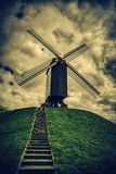 Oude molen in Brugge royalty-vrije stock foto's