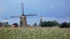 Oude molen dichtbij Ootmarsum (Nederland) Royalty-vrije Stock Afbeelding