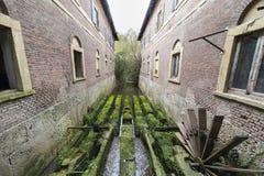 Oude molen in het Monza-Park Royalty-vrije Stock Foto's