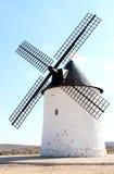 Oude molen in La Mancha dichtbij Pozo Canada, Spanje Royalty-vrije Stock Foto