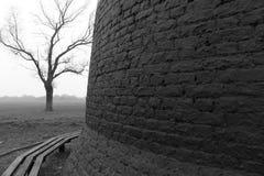 Oude molen op Beverley Westwood Royalty-vrije Stock Fotografie