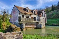 Oude molen in Ornans Royalty-vrije Stock Foto