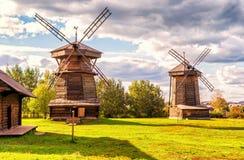 Oude molens in Suzdal, Rusland Stock Foto's