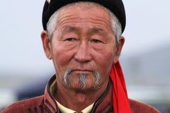 Oude Mongoolse mens royalty-vrije stock afbeeldingen