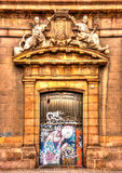 Oude mooie deur Stock Foto's