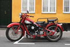 Oude motoecycle stock afbeelding