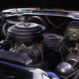 Oude motor van een auto Stock Fotografie
