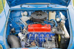 Oude motor van een auto Stock Foto's