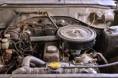 Oude motor van een auto Stock Afbeeldingen