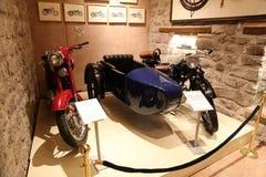 Oude Motorfietsen in Koc-Museum Stock Afbeeldingen