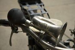 Oude motorfietshoorn Stock Foto