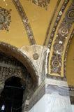 Oude mozaïeken in het binnenland van Hagia Sophia `s Stock Fotografie
