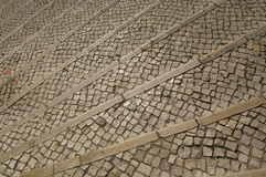 Oude mozaïektrede treps Stock Afbeelding