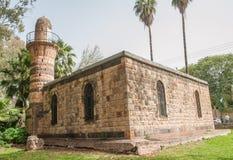 Oude mozeum van Kiryat Shmona in Israël, in openbaar park royalty-vrije stock afbeelding