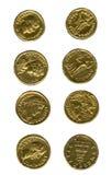 Oude muntstukken Stock Afbeeldingen