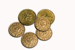 Oude muntstukken Stock Foto's