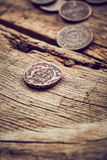 Oude muntstukken Royalty-vrije Stock Afbeeldingen