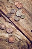 Oude muntstukken Stock Foto